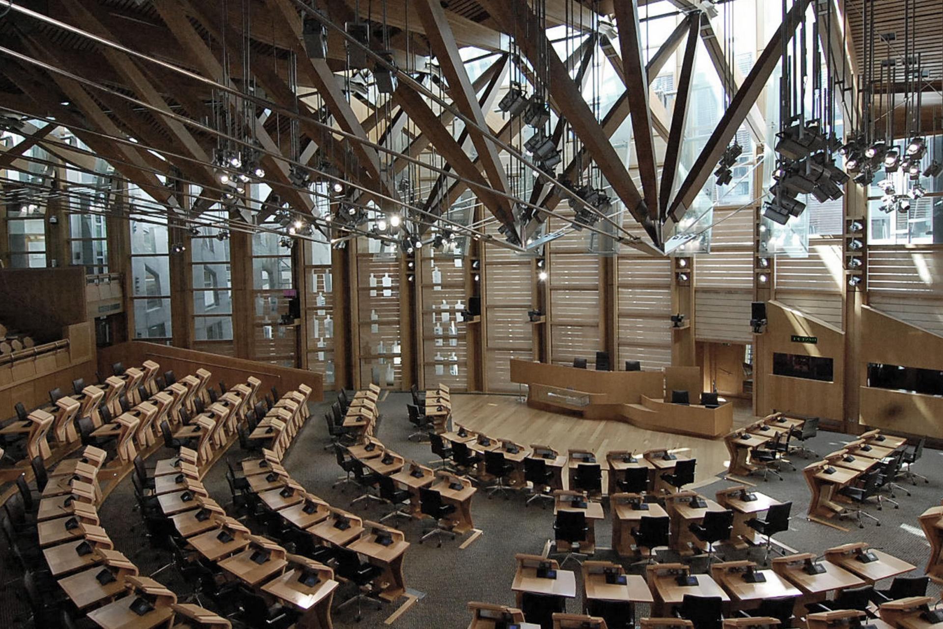 Scottish Parliament chambers