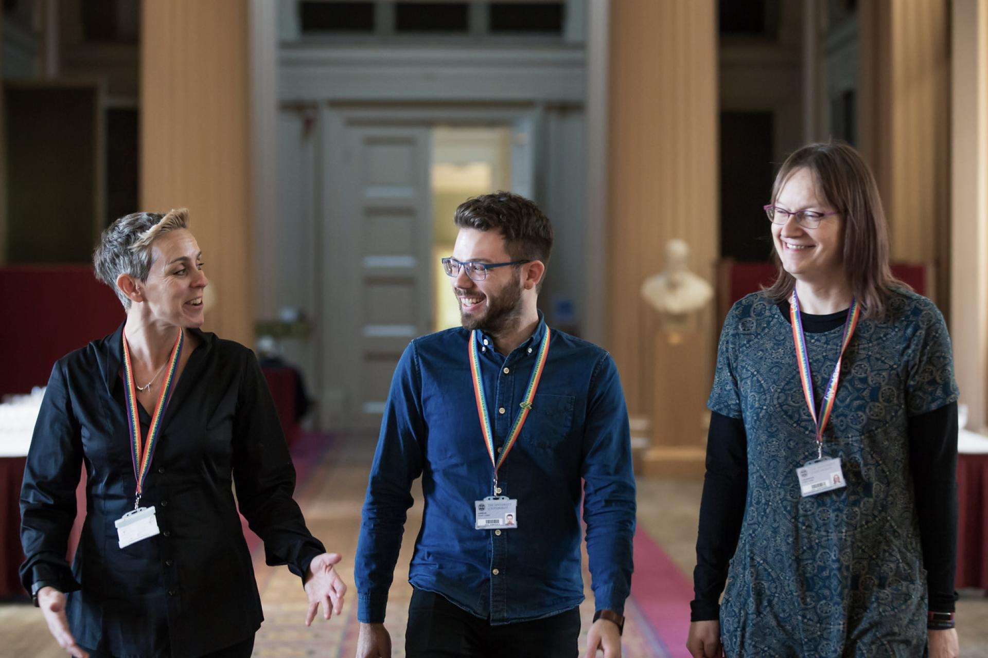 LGBTQ+ staff in Playfair Library