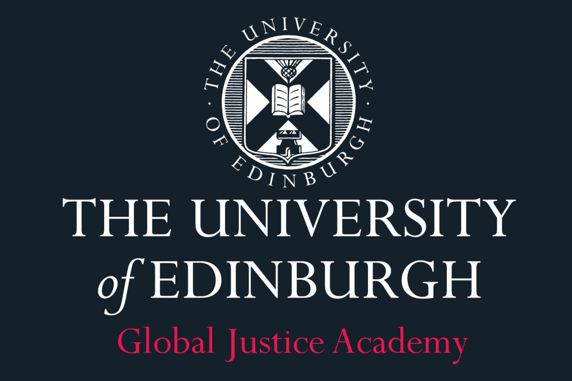 The University of Edinburgh Global Justice Academy logo