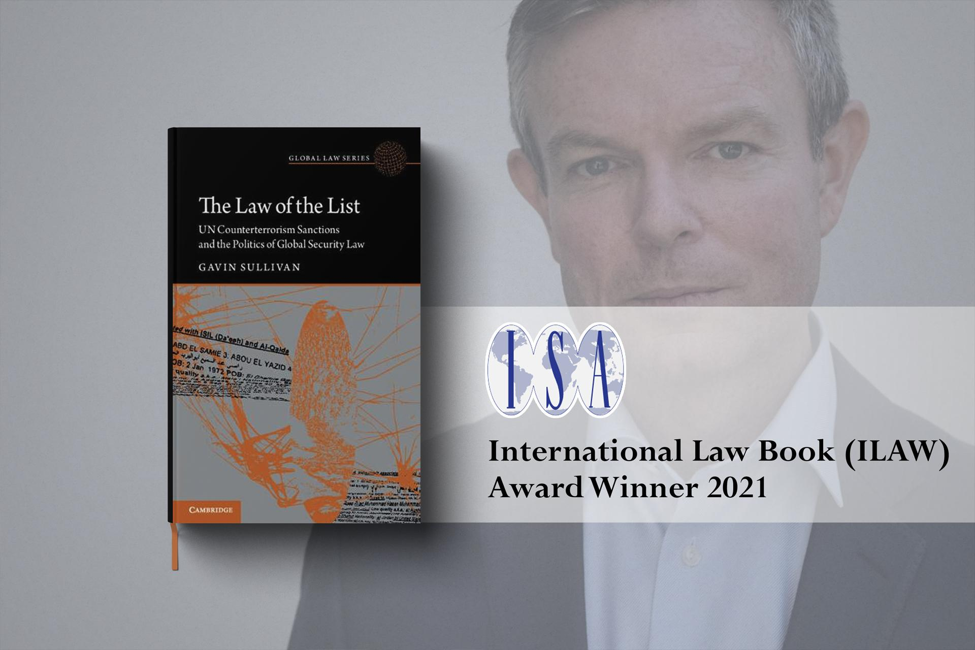 Dr Gavin Sullivan receives ISA ILAW 2021 Book Award