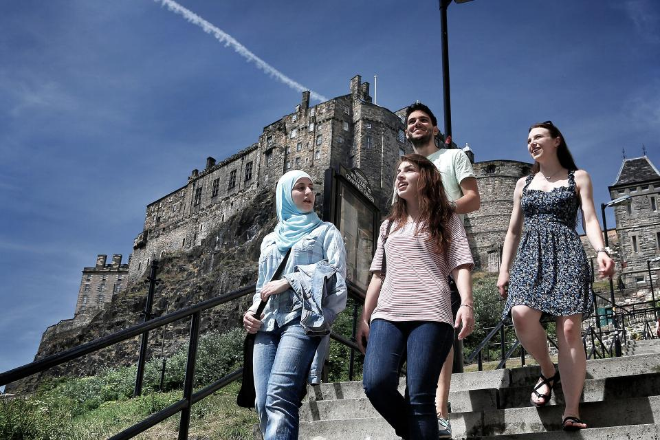 Students in the city of Edinburgh